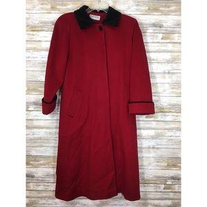 Vintage Jackets & Coats - Vintage Forecaster of Boston Red Wool & Black Coat